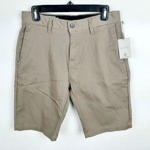 Volcom Men's Stretch Shorts Casual Flat Front Size